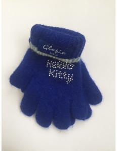 Перчатки зимние синего цвета Hello Kitty
