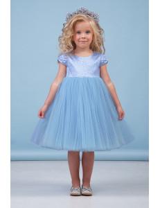 """Платье нарядное голубого цвета """"Василиска"""""""